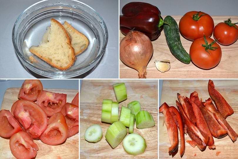 1 pulire e tagliare verdure