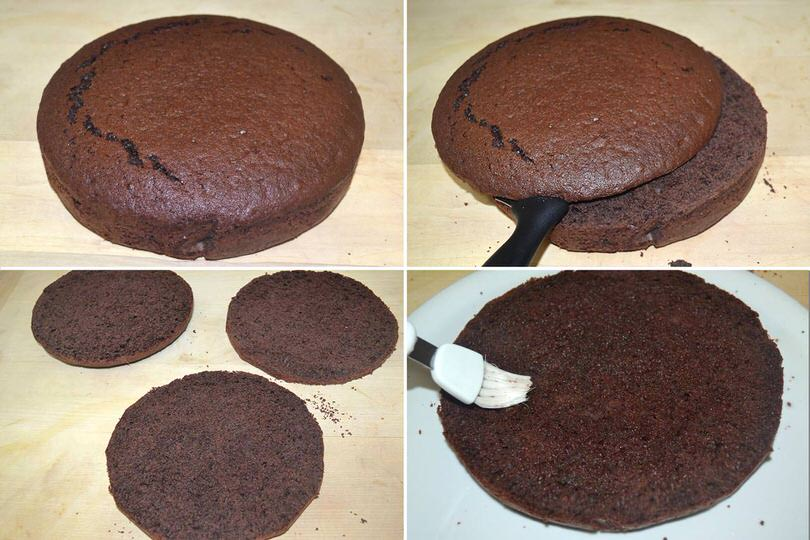 1 tagliare a bagnare torta