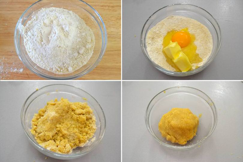 2 aggiungere uova burro