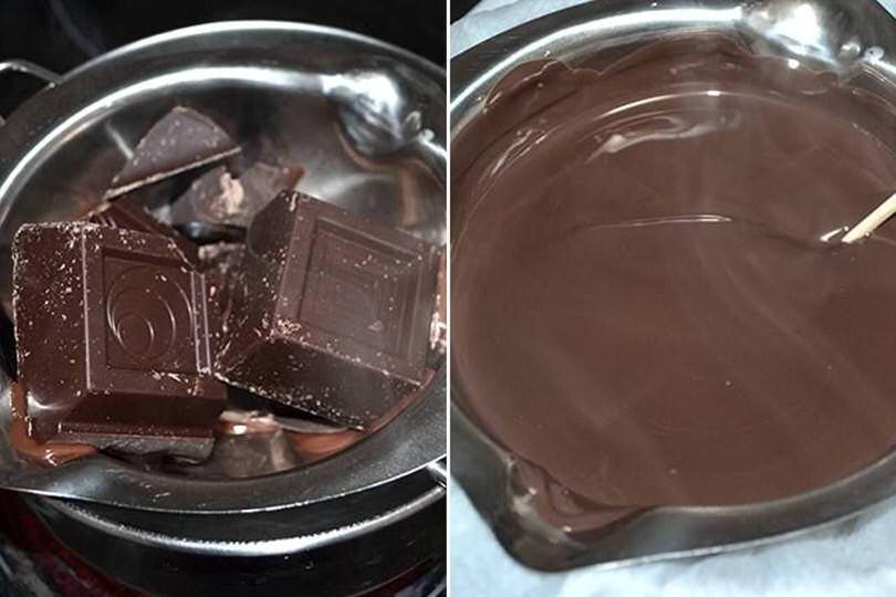 2 sciogliere cioccolato