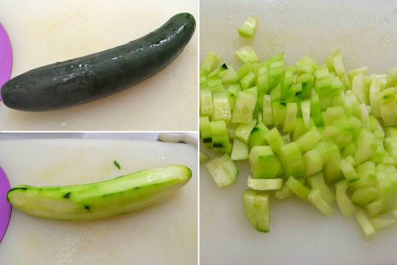 2 tagliare cetriolo