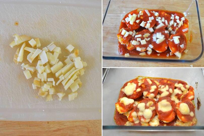 4 aggiungere formaggio e infornare
