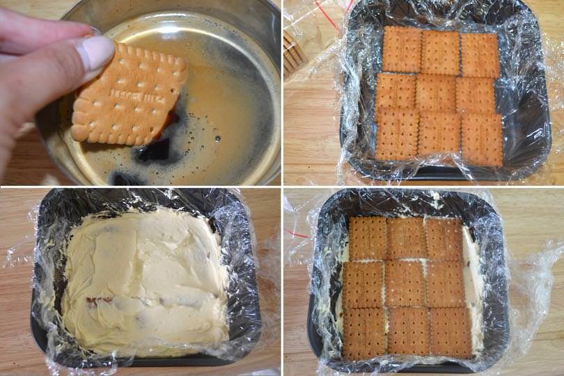 4 alternare biscotti e composto