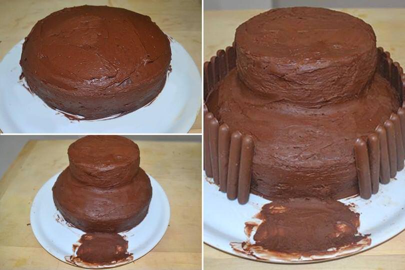 5 glassare e montare torta