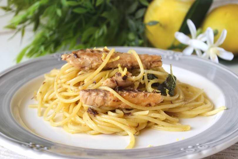 Pasta Con Sgombro E Salvia Ricetta Pasta Con Sgombro E Salvia Di Misya