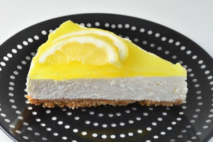 fetta cheesecake al limone