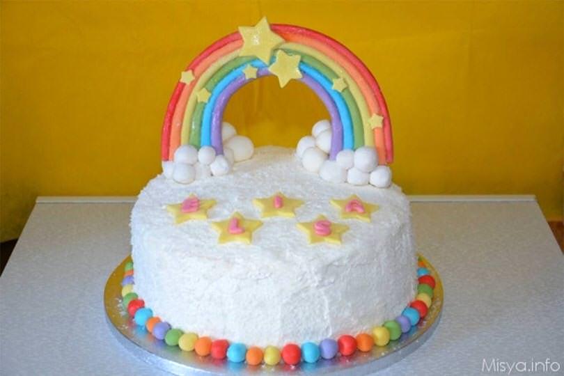 Torta Compleanno Bambini Fatta In Casa.Rainbow Cake Ricetta Rainbow Cake Di Misya