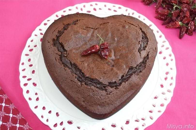 Ricetta Torta Al Cioccolato A Forma Di Cuore.Torta Cioccolato E Peperoncino Ricetta Torta Cioccolato E Peperoncino Di Misya
