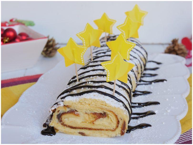Tronchetto Di Natale Con Pandoro.Rotolo Di Pandoro Ricetta Rotolo Di Pandoro Di Misya
