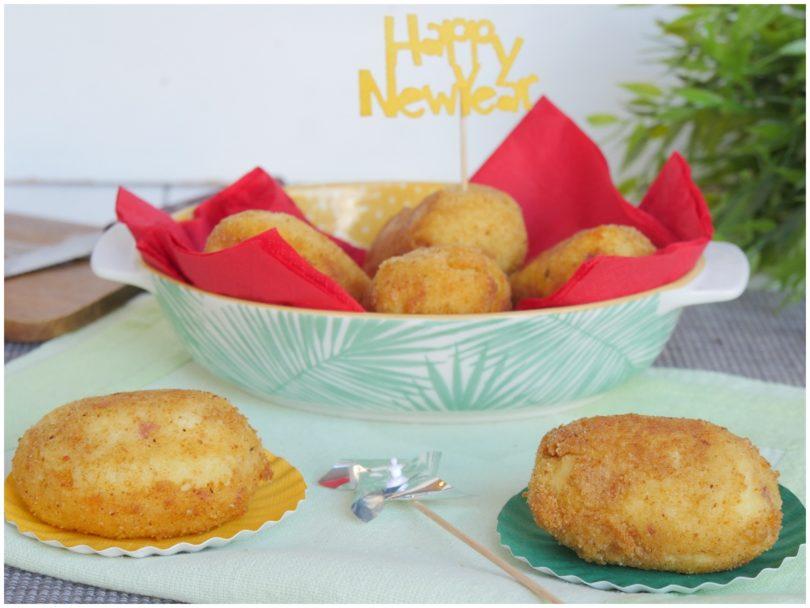 Crocchette di patate con cuore di cotechino