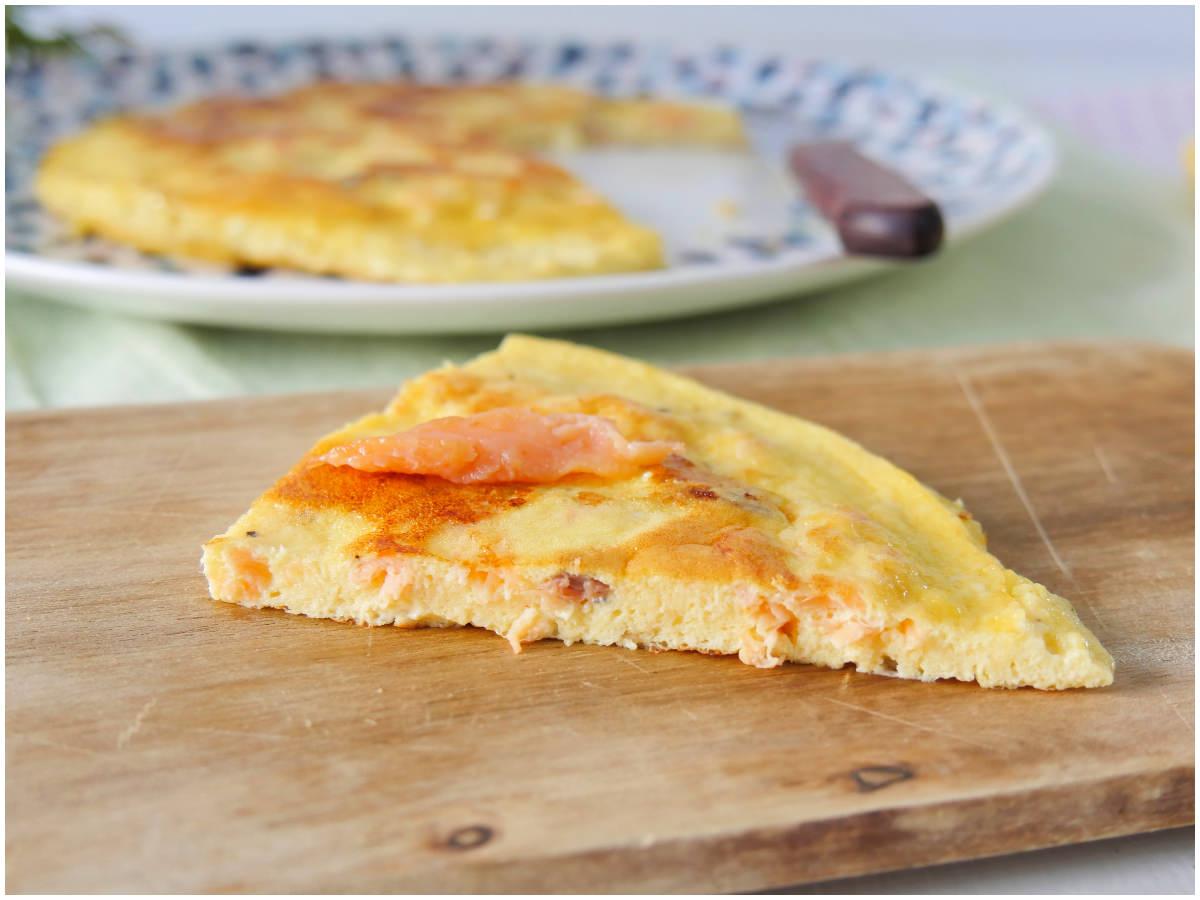 Ricetta Omelette Salmone.Frittata Al Salmone Ricetta Frittata Al Salmone Di Misya