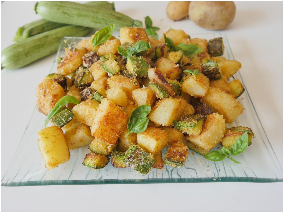 Ricetta Patate E Zucchine In Padella.Patate E Zucchine Ricetta Patate E Zucchine Di Misya